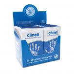 Clinell antimikroobsed kätepuhastuslapid N100